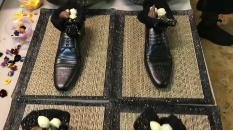 """לא כבוד ולא נעליים: ראה""""מ נעלב מהארוחה"""