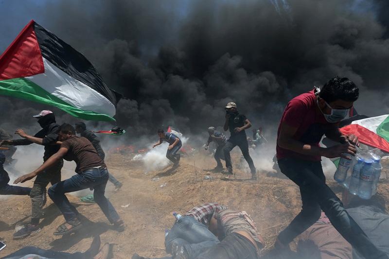 המהומות בגדר: אלפי פצועים ועשרות הרוגים
