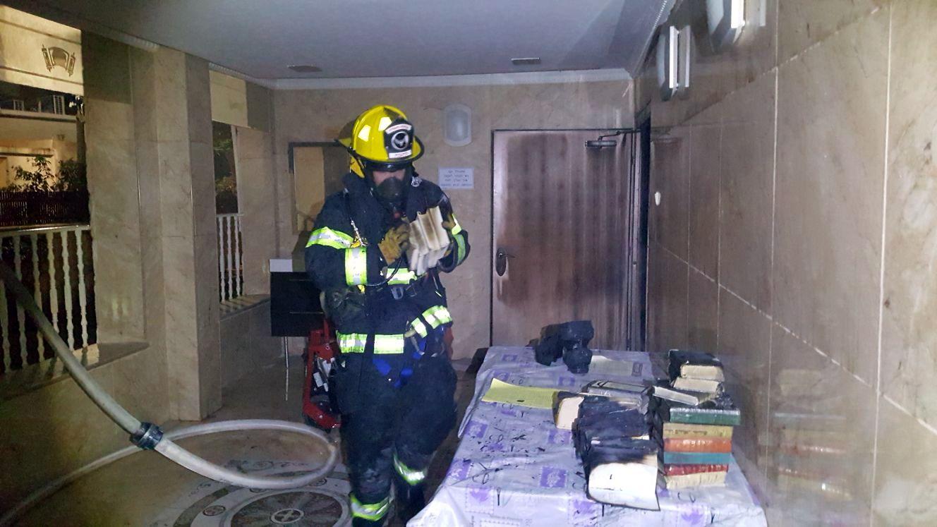 חשד: השריפה שפרצה בבית הכנסת - הוצתה בזדון