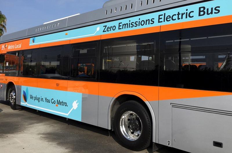 אוטובוס חשמלי בלוס אנג'לס. צילום: רויטרס