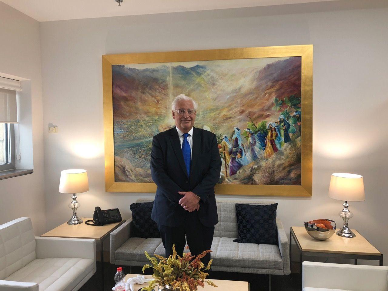 הציור של החרדית שיככב בשגרירות החדשה
