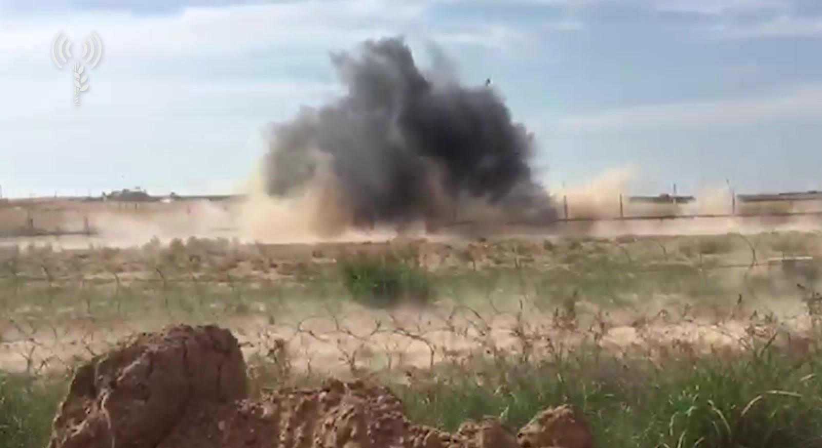 """חמאס ירה פעמיים - צה""""ל הפגיז לו 3 עמדות"""