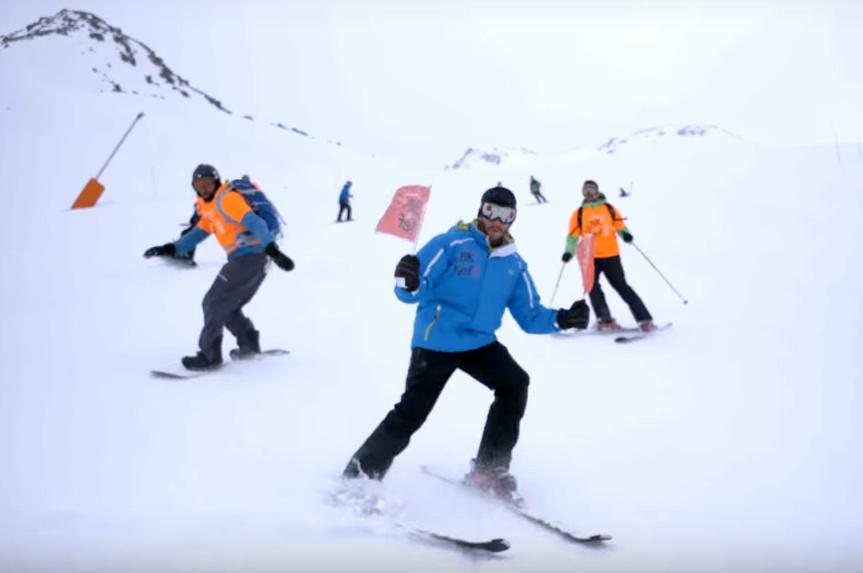 שלומי גרטנר מקפיץ בשלג:
