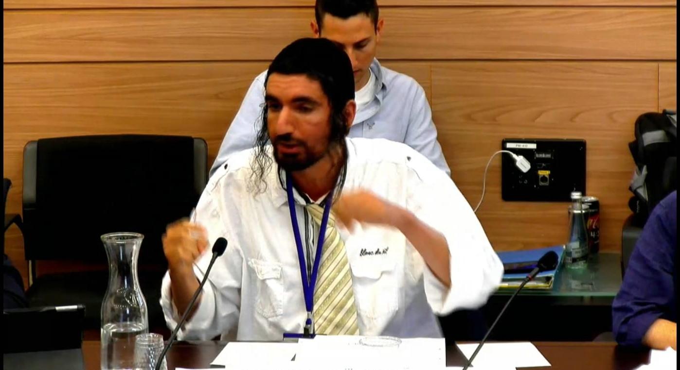 צפו: החרדי שלימד את חברי הכנסת הלכות שבת