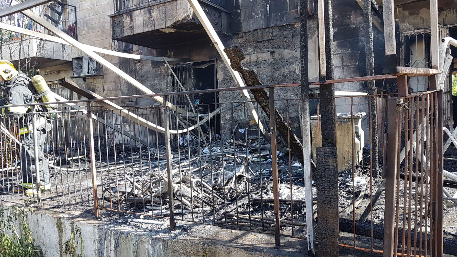 גם בבירה: שריפה משתוללת בסנהדריה המורחבת