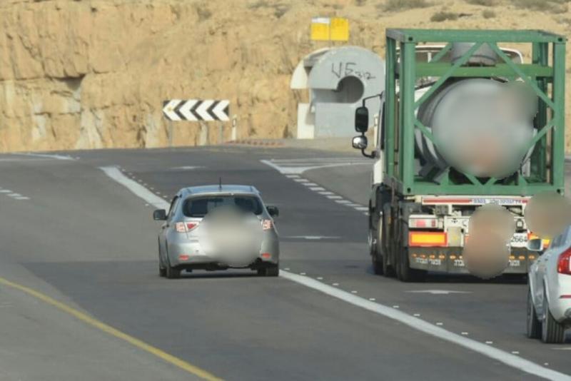 """צפו: המסוק המשטרתי תיעד - הנהג קיבל דו""""ח"""