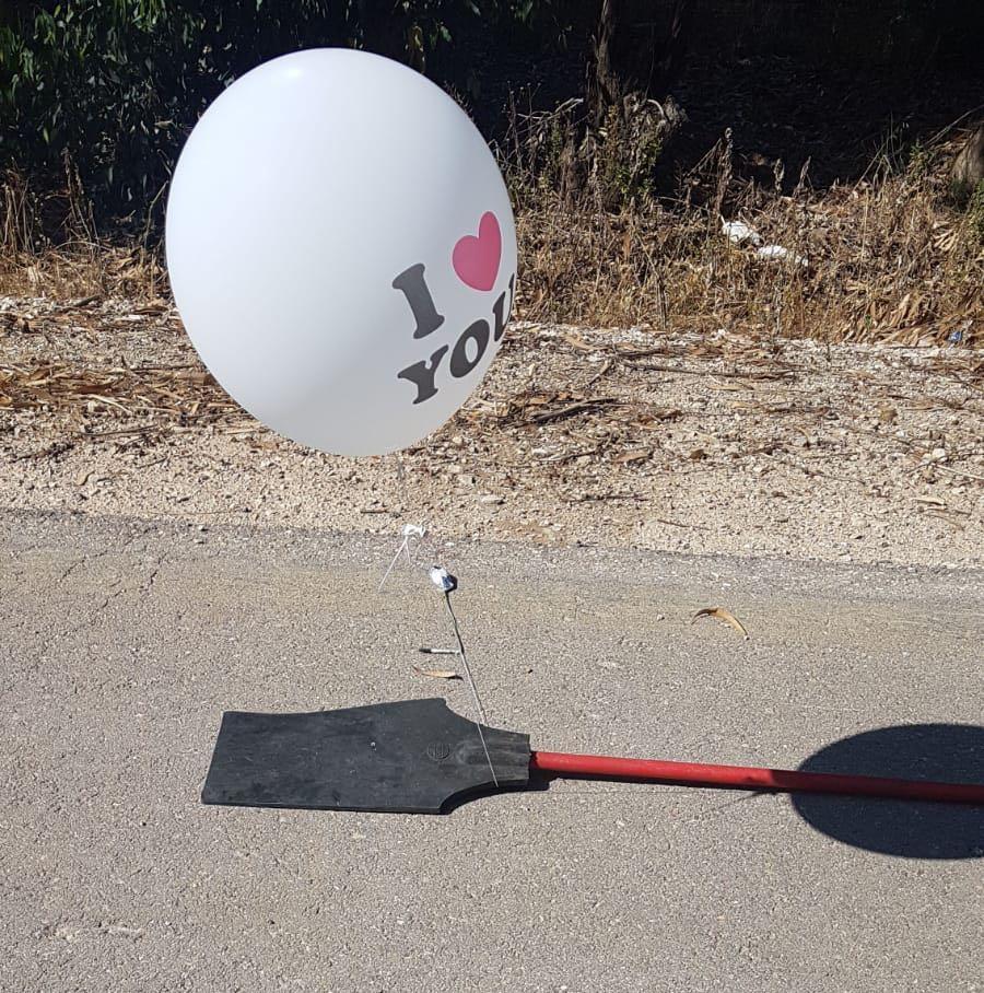 הבלון התמים מעזה שעמד להתפוצץ • וידאו