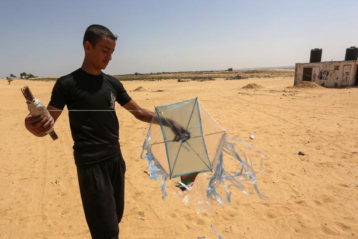 לראשונה: עפיפון מעזה הגיע עד לנתיבות
