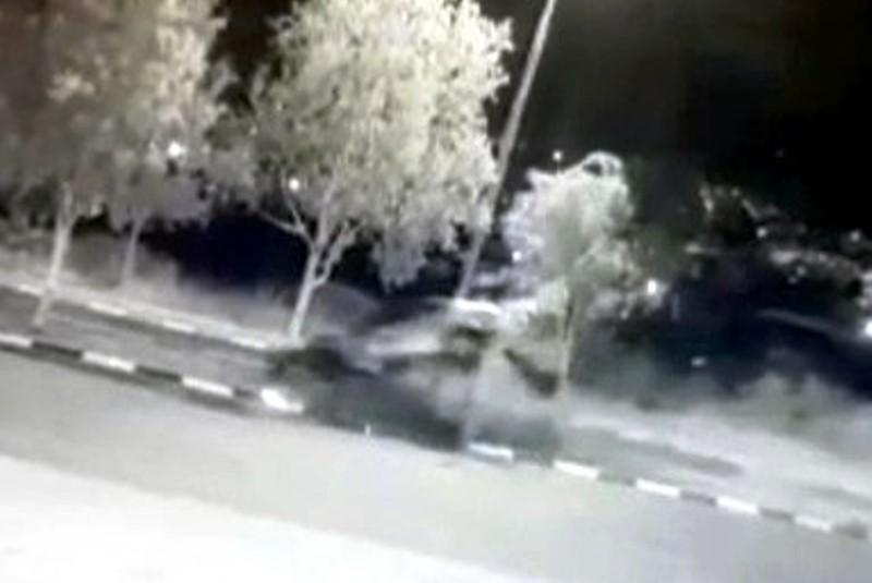 צפו: גנב הרכב נמלט בפראות וגרם לתאונה עצמית קשה