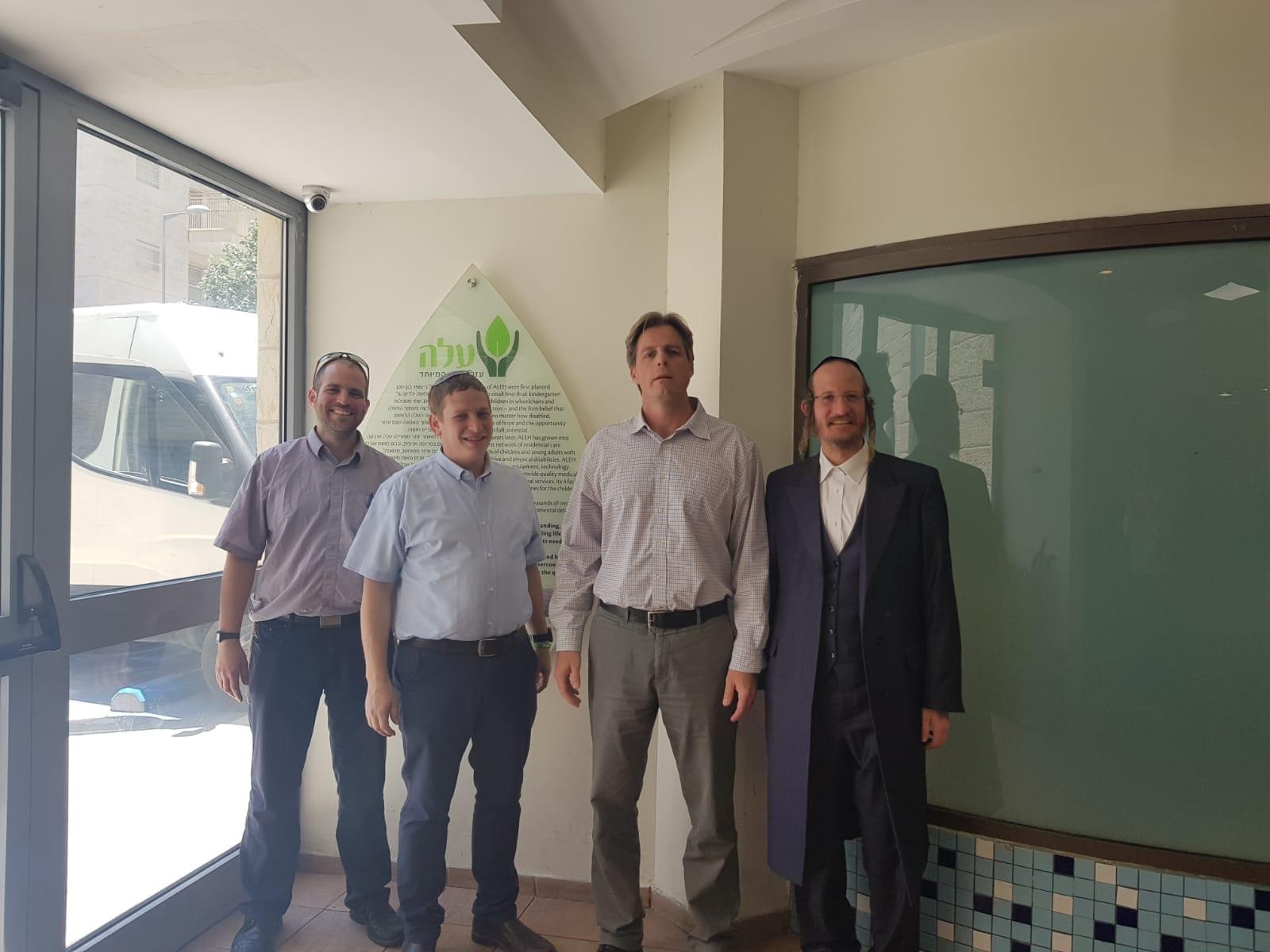 """ראש מחוז ירושלים במכבי שירותי בריאות ביקר במוסדות על""""ה בעיר"""