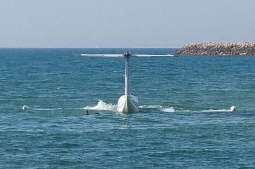 צפו: נחיתת חירום בים מול נמל תל אביב