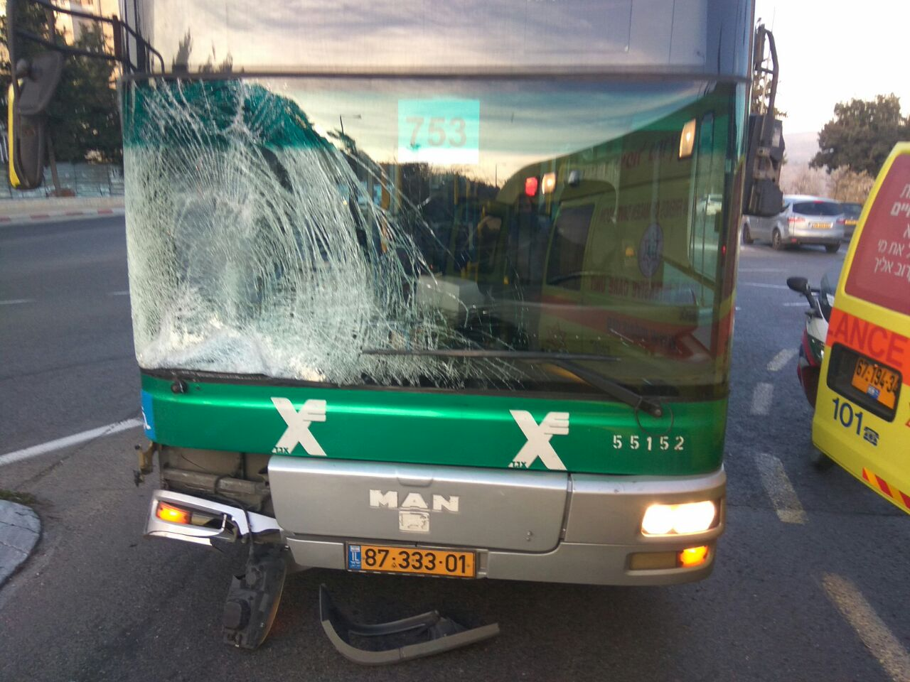 Accident On Golda Meir Blvd. In Yerushalayim Exposes Residents Aren't Being Taken Seriously