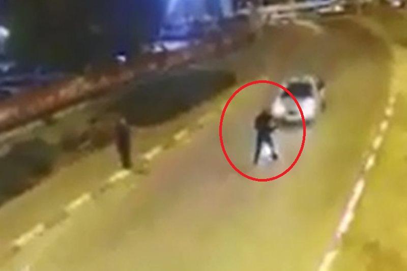 דריסה מכוונת: שוטר נדרס ונפצע • צפו