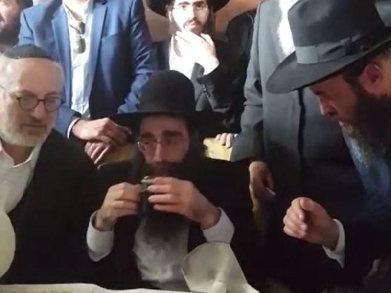 לאחר השחרור: הרב פינטו חגג במירון • צפו