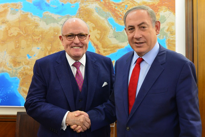 "Rudi Giuliani Supports PM Netanyahu Over ""So-Called Allegation"""
