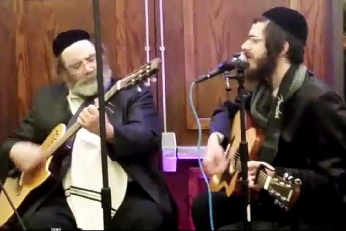 """האדמו""""ר והמשפיע ניגנו בגיטרה יחדיו:"""