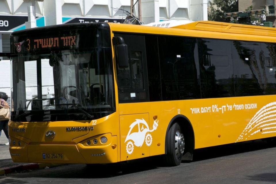 62 אוטובוסים חשמליים ייכנסו לשירות התחבורה הציבורית